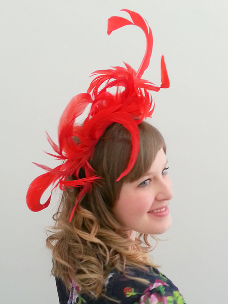 Craft Classes Feather Fascinator/Headband Workshop by Julie Fleming Milliner