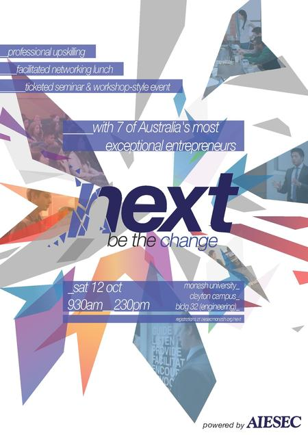 Business Courses NEXT: Be The Change by AIESEC Monash
