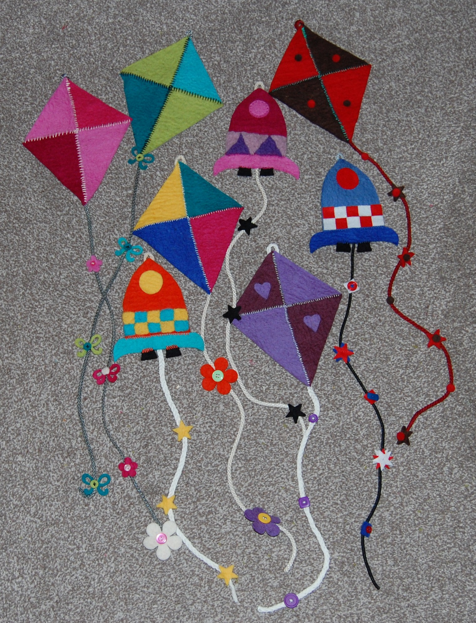 Kids Activities Flying High Wall Kites by Artea Art School Community and Party Venue