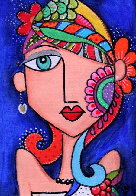 Fantasy Girl (Acrylic Painting)