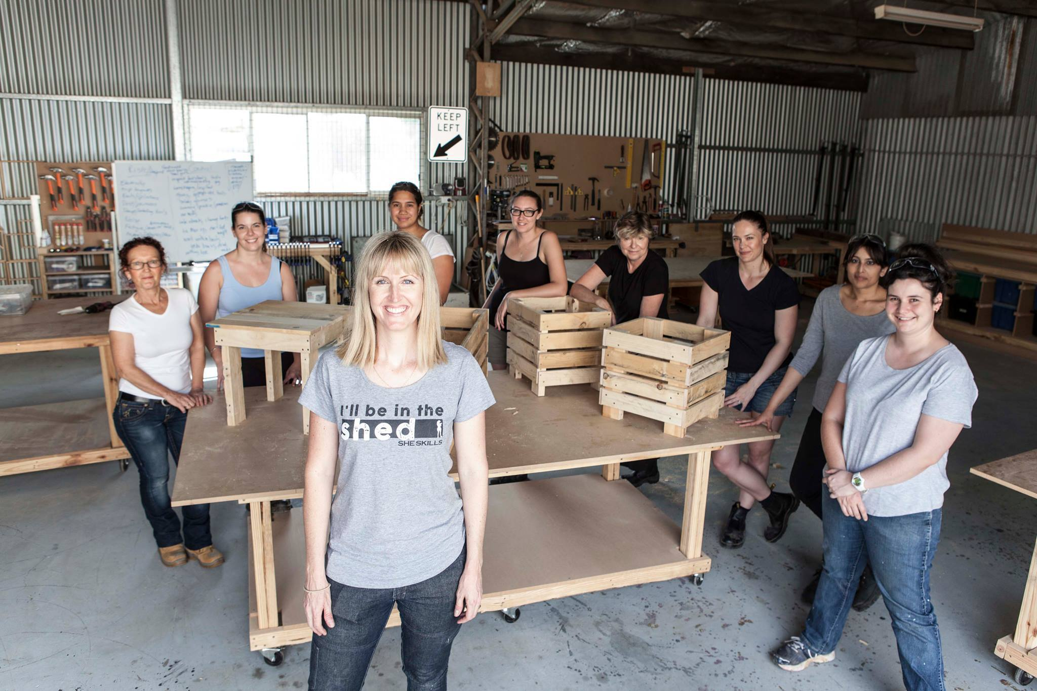 Creating with Pallets at She Skills